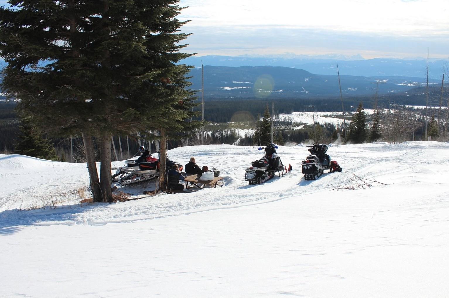 Spring Sledding...riding season stretches from November through to May.