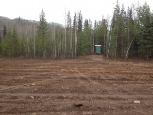 New parking/staging area Telkwa FSR